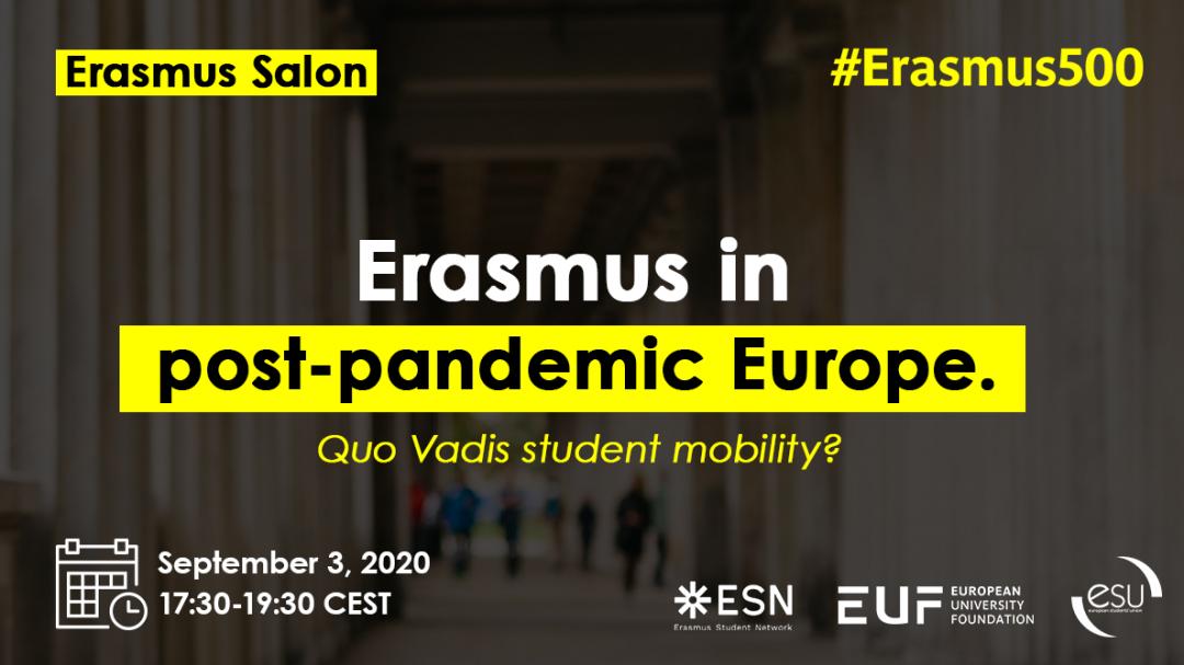 Erasmus Salon: Erasmus in post-pandemic Europe